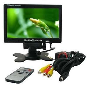 """7"""" TFT LCD Color Car Rearview Headrest Monitor DVD VCR"""