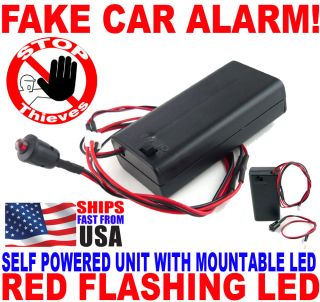 Bright Red Flashing LED Light Fake Dummy Car Alarm New Fast Free USA Shipping