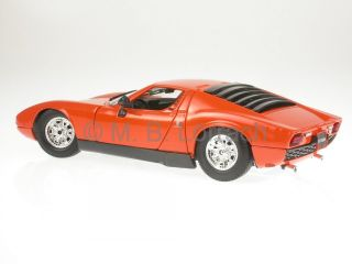 Lamborghini Miura 1968 Orange Diecast Model Car 18 12072 Bburago 1 18