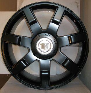 """24 Cadillac Escalade Wheels Rims Fit 2007 2013 22"""" Gloss Black"""