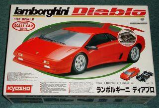 Kyosho Lamborghini Diablo 1 10 Scale Kit 4253 RARE