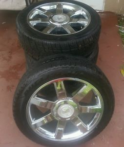 22 inch Cadillac Escalade Factory Rims with Used Tires