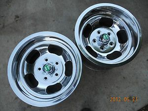 Newly Polished 15x8 5 Ansen Slot Mag Wheels Chevelle Camaro Mags Gasser Camino