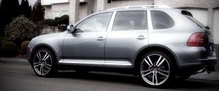 "New 22"" Porsche Cayenne Turbo II Style Wheels Rims Gunmetal with Machine Face"