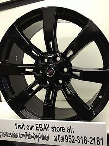 22 inch Black GM Accessory OE Factory Wheels Rims Cadillac Escalade Ext Platinum