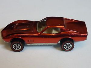 1969 Hot Wheels Redline Tire Custom Corvette in Red Collector Quality Condition