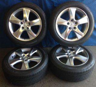 """17"""" Acura TSX 2012 OE Wheels 4 Silver Rims Michelin HXMXM4 Tires"""