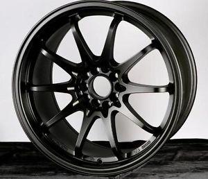 18x9 5 Varrstoen ES331 Wheels 5x100mm Matte Black Rims Fits Subaru WRX 5x100