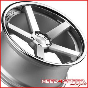 "20"" Cadillac cts V Coupe Stance SC 5IVE Silver Concave Staggered Wheels Rims"