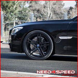 "22"" Cadillac cts V Sedan Rohana RC5 Matte Black Concave Wheels Rims"