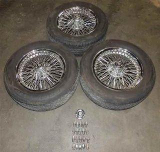 "2000 Jaguar XJ8 16x7"" Chrome Wire Wheels Dayton Rims Tires 3"