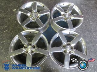 """Four 10 13 Chevy Camaro Factory 19"""" Polished Wheels Rims 5441 92197467"""