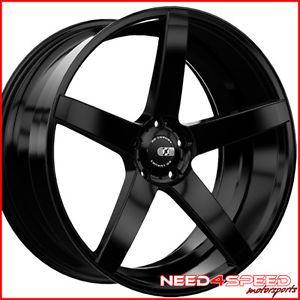 "20"" Hyundai Genesis Coupe XO Miami Matte Black Concave Staggered Wheels Rims"