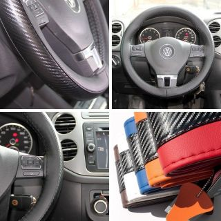 Leather Steering Wheel Wrap Cover 47007CF Black Hummer Fiat Car Needle Thread