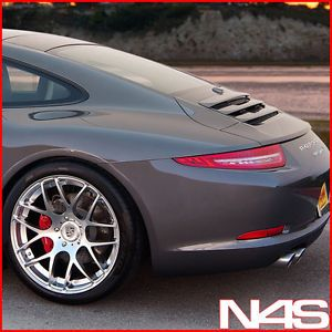 "20"" Porsche 911 997 Carrera s 4 Narrow Body Silver Staggered Concave Wheels Rims"