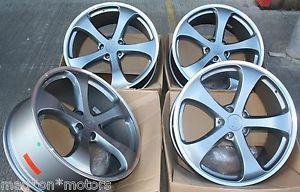 """22"""" Gun Metal 5 Spoke Alloy Wheels Fits Porsche Cayenne"""