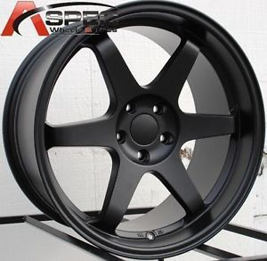 18x9 5 Varrstoen ES221 Wheels 5x100mm Matte Black Rims Fits Scion TC 2005 2010