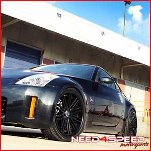 "20"" Nissan Altima Rohana RC20 Deep Concave Black Staggered Wheels Rims"