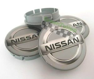 Nissan Wheel Center Caps Set 4pcs 60mm Silicon Decal Rims