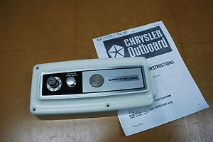 Vintage Chrysler Outboard Remote Control Box F5H130 Missing Parts