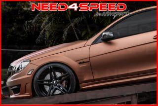 """20"""" XO Caracas Matte Black Concave Wheels Staggered Rims Fits Porsche Panamera"""