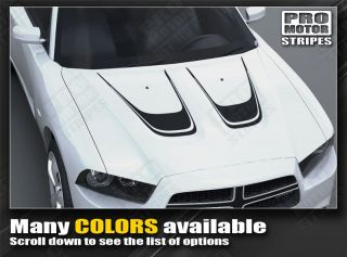 Dodge Charger Hood Accent Scallop Stripes 2011 2012 2013 Decal Graphic Pro Motor