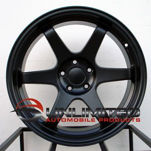 "18"" Varrstoen ES2 Style Matte Black Wheels Rims Fit Subaru WRX 2001 2012"