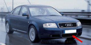 Front Bumper Chrome Centre Middle Lower Grille Cover Trim Vent Audi A6 2001 2005