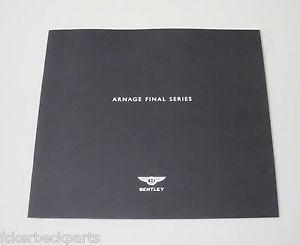 Bentley Arnage Final Series Dealer Brochure Book