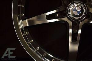 19 inch BMW 325CI 325i 325xi E46 Wheels Rims and Tires GT5 Black Ml