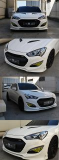 Matt Black Front Radiator Grille Cover for Hyundai Genesis Coupe 2013 2014