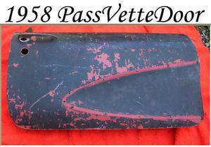 Corvette Parts 1958 Door Fiberglass Body Passenger Right Shell Good Used