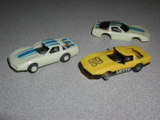 Tyco ZR 1 Glow Corvette HO Scale Slot Car Lot Ready to Race or for Parts Nice