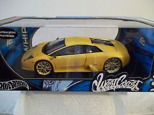 Hot Wheels West Coast Customs Lamborghini Murcielago 1 18 Scale Diecast Car NIB