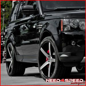 """22"""" Land Rover Range Rover Sport 22x10 5 Concave Machined Wheels Rims"""