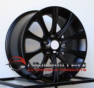 "19"" M5 Style Staggered Matte Black Wheels Rims Fit BMW M3 Z4 E60 5 Series F10"