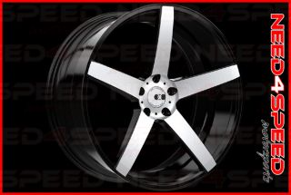 "22"" XO Miami Brushed Black Concave Wheels 22x10 5 Rims Fits Range Rover Sport"