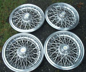 """Vintage GM 15"""" Wire Wheel Covers Olds Cadillac Pontiac Chevy Buick"""