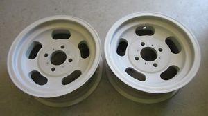 4 Lug US Indy Mags Aluminum Slot Wheels Mustang Alfa Romeo Porsche Volvo
