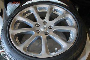 "19"" Maserati Set of 4 Wheels Tires Sensors Polished Quattroporte GT 20"""