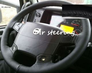For Volvo FH13 Version 2 Truck Top Quality Black Leather Steering Wheel Cover