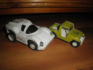 1969 Vintage Tootsie Toy Tonka White Race Car Jeep Truck Toys Parts Restoration