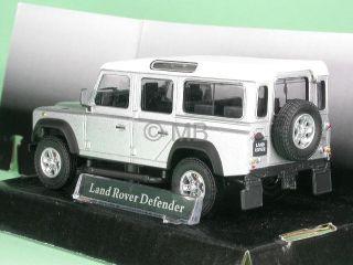 Land Rover Defender Silver Diecast Model Car Cararama 1 43