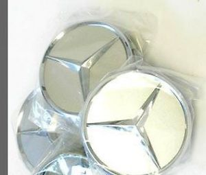 Mercedes Benz Logo Sticker Wheel Rim Center Cap Emblems