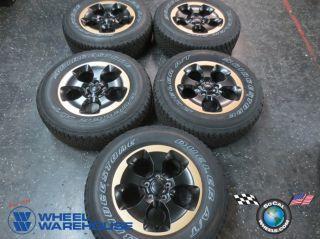 "Five 2014 Jeep Wrangler Sahara Factory 18"" Gold Black Wheels Tires Rims 9119"