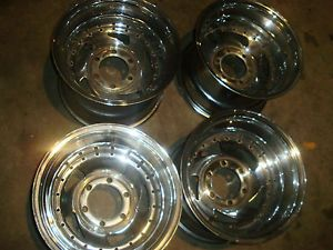 15x10 Chrome Deep Dish Rims Wheels Chevy GMC Truck 454 350 400 Rat Rod 6 Lugs