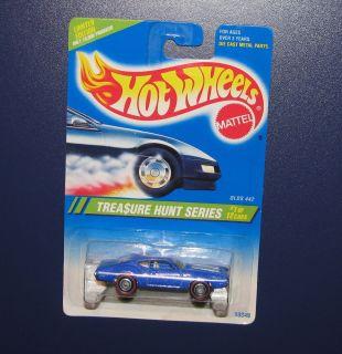 Hot Wheels 1995 Treasure Hunt Series 1 12 Cars Olds 442 Blue Redline Mint