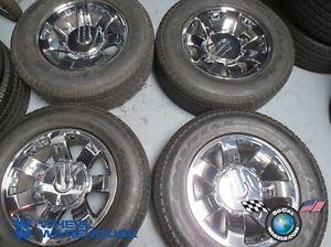 Four 08 09 Hummer H2 Factory 20 Wheels Tires Rims 6310 9596680 Sensors