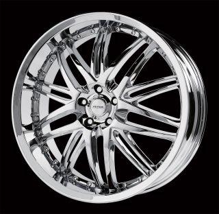 "20"" Verde V55 Kaos Chrome Wheel Rims Tires Fittoyota Nissan Honda Ford Chevy Kia"