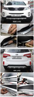 Diffuser for Front Rear Bumper Skid Plate Set Fit Kia New Sorento 2013 2014